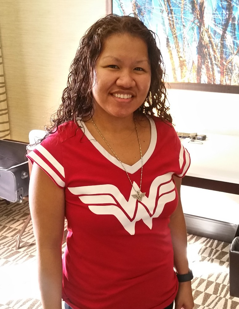 picture of sehana with wonder woman shirt