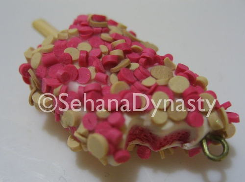 polymer clay strawberry shortcake eclair icecream