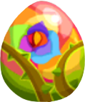 Rainbow Rose Egg
