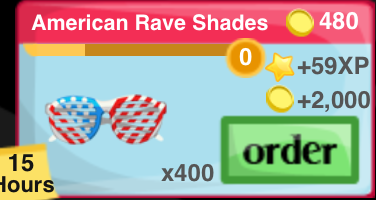 American Rave Shades Item