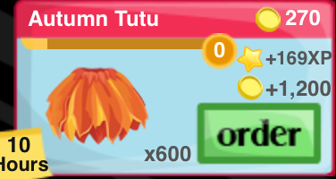 Autumn Tutu Item