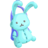 TL Part aqua bunny bag