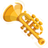 TL Part gold trumpet
