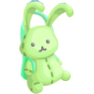 TL Part lime bunny bag