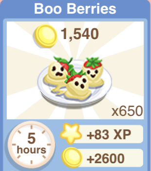 Boo Berries Recipe
