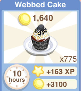 Webbed Cake Recipe