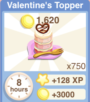 Valentines Topper Recipe