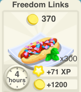 Freedom Links Recipe
